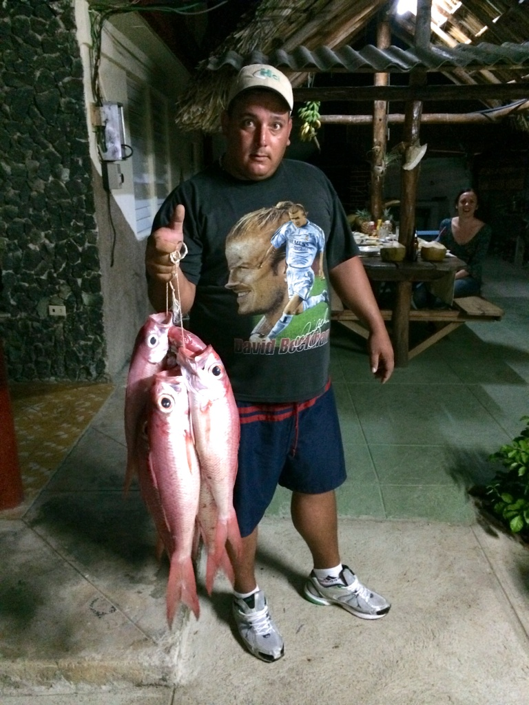 Saimniekdēls saķēris vakariiņām zivis