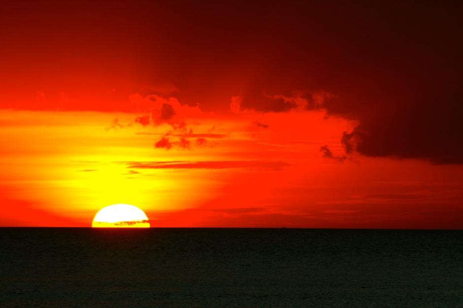 Viens no daudzajiem skaistajiem saulrietiem Dive&Trek